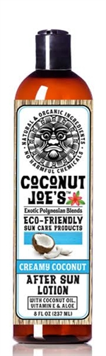COCONUT JOE'S ECO-FRIENDLY SUN CARE-CREAMY COCONUT AFTER SUN LOTION-8 OZ.