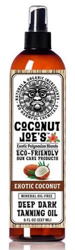 COCONUT JOE'S ECO-FRIENDLY SUN CARE-EXOTIC COCONUT-TANNING OIL-8 OZ.